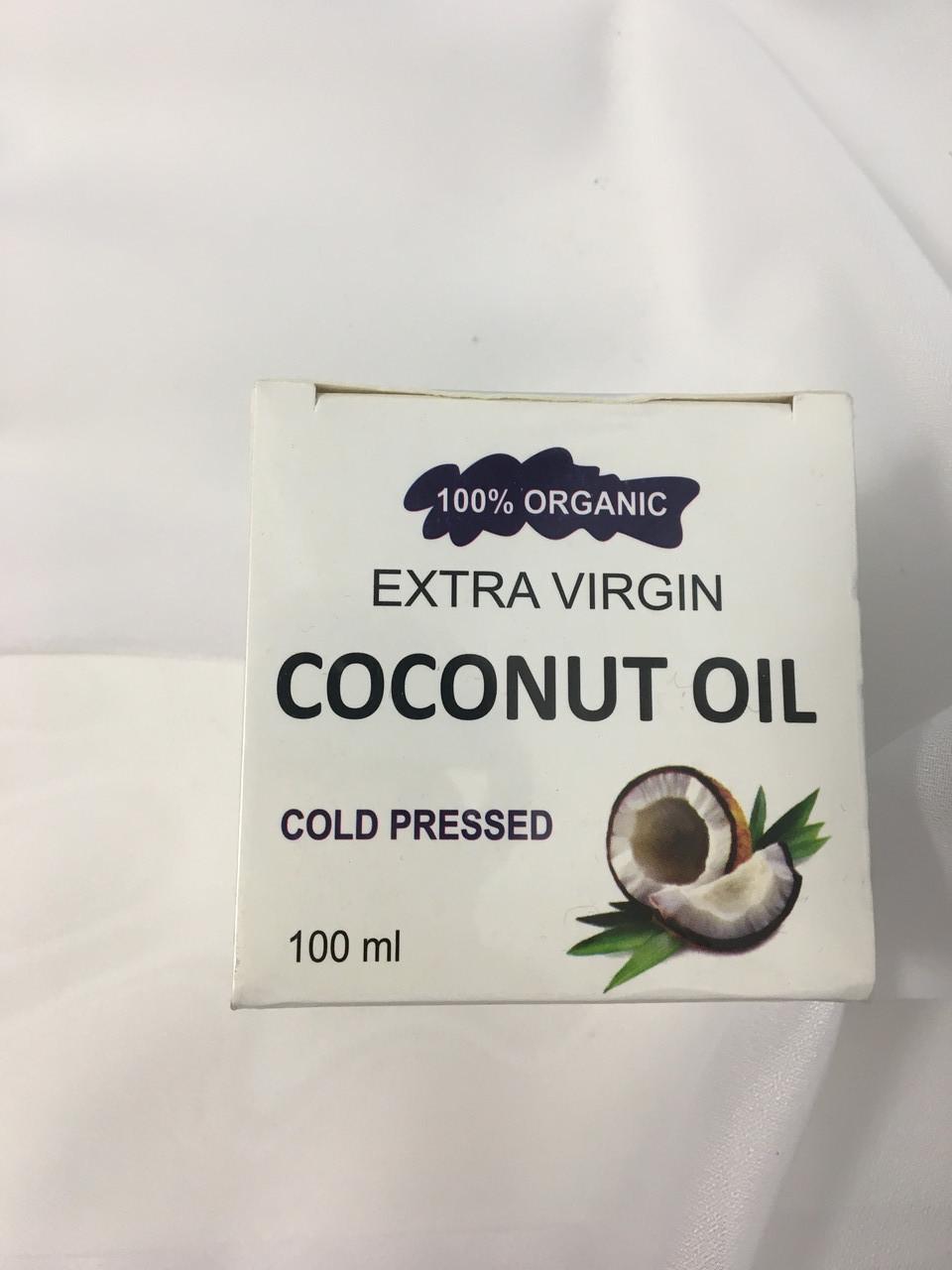 Кокосова олія Extra virgin coconut oil cold pressed 100мл