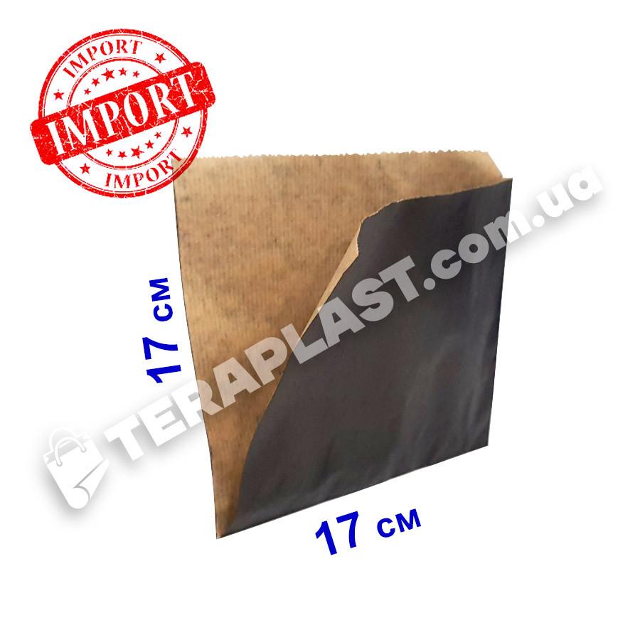 Уголок бумажный 170x170 крафт плотность 70 г/м2 (чёрный)