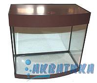 Аквариум с панорамным гнутым стеклом