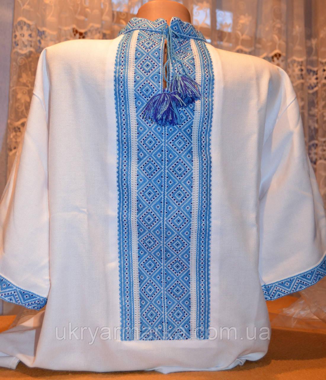 "Вишиванка з коротким рукавом ""Небо України"""