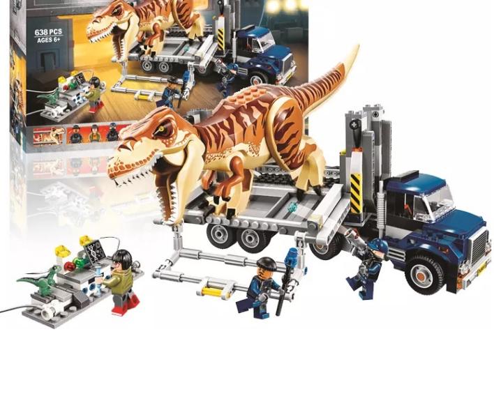 Конструктор 10927 Світ Парк юрського періоду Транспорт для перевезення Тиранозавра 638 деталей