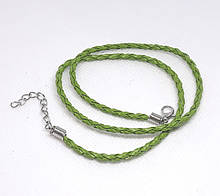Основа на шею шнур плетеный Салатовый 3 мм 46 см Кожа искусственная