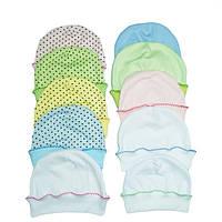 Шапочки для новорожденных (интерлок)