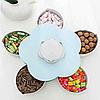 Менажница,вращающаяся тарелка-органайзер для закусок Kitchen Boxes (Цвет-голубой), фото 3