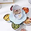 Менажница,вращающаяся тарелка-органайзер для закусок Kitchen Boxes (Цвет-голубой), фото 5