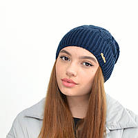 """Жіноча шапка """"Рузана"""" Синій, фото 1"""