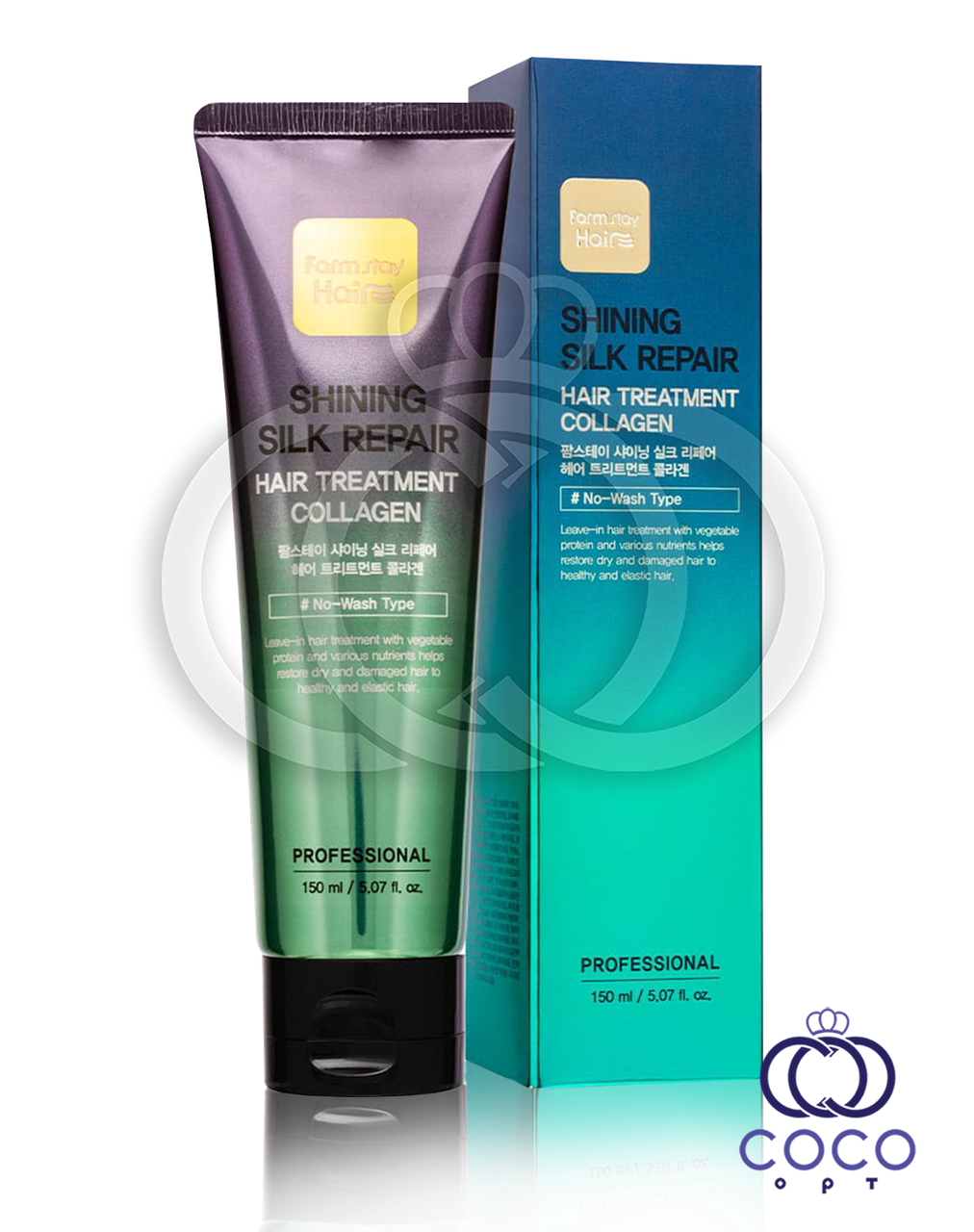 Маска для волос Farm stay Shining Silk Repair Hair Treatment Collagen с коллагеном