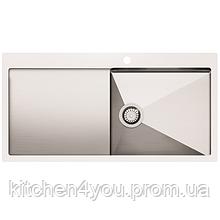 Кухонна мийка з нержавіючої сталі 1000x510 мм. AquaSanita LUN101M-R права
