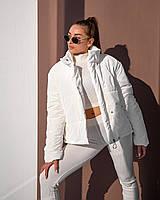 Шикарная молочная куртка с бархатным напылением 42, 44, 46, 48
