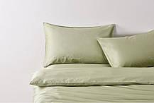 Постельное белье сатин Deluxe Bella Villa с вышивкой оливковый