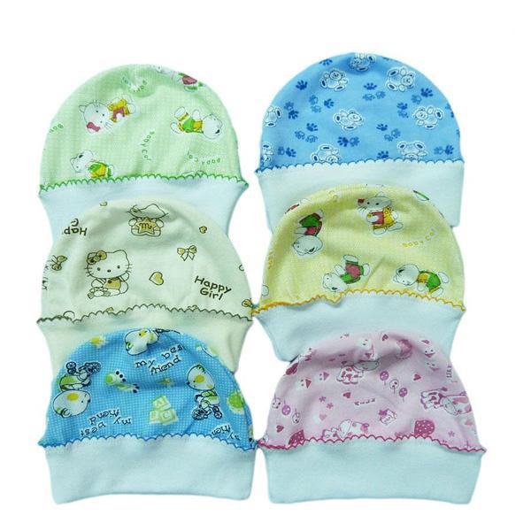 Шапочки для новорожденных (кулир)