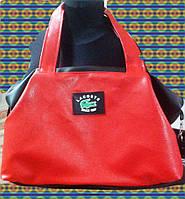 Сумка женская, Lacoste красный с черным 49х32х15 SOR/591