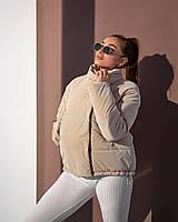 Прямая бежевая куртка весна-осень 42, 44, 46, 48
