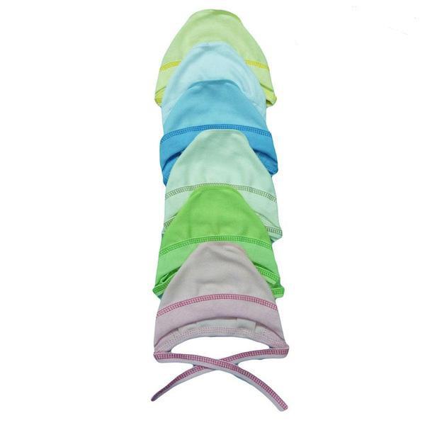 Чепчики для новорожденных (интерлок однотонный)