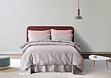 Постельное белье сатин Deluxe Bella Villa с вышивкой светло-серый, фото 2