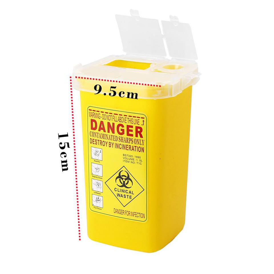 Контейнер для утилізації матеріалів (голки, модулі) Жовтий