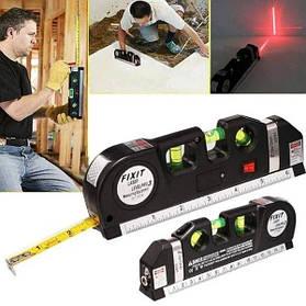 Лазерный уровень лазерний рівень fixit laser level 3в1 lv03 нивелир со с встроенной рулеткой жидкостныйЛинейка