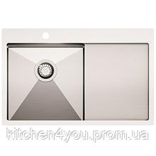 Кухонна мийка з нержавіючої сталі 1000x510 мм. AquaSanita LUN101M-L ліва