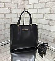 Сумочка женская черная среднего размера сумка небольшая классическая экокожа