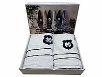 Набор полотенец Maison D'or Alain White махровые 30-50 см,50-100 см,70-140 см белый, фото 1