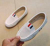 Туфли детские летние N & ELa белые