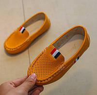 Туфли детские летние N&ELa горчичные
