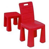 Стульчик 2в1 для детей от ТМ Долони, стул пластиковый, детский, цвет красный