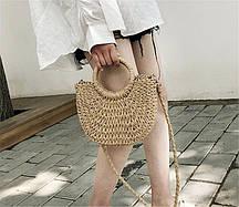 Заказ от 1000 грн, Соломенная сумка оптом FS-3731-16