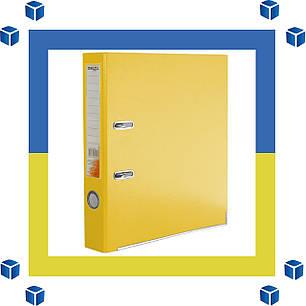 Папка - регистратор (сегрегатор) А4/50 Delta (желтая-односторонняя), фото 2