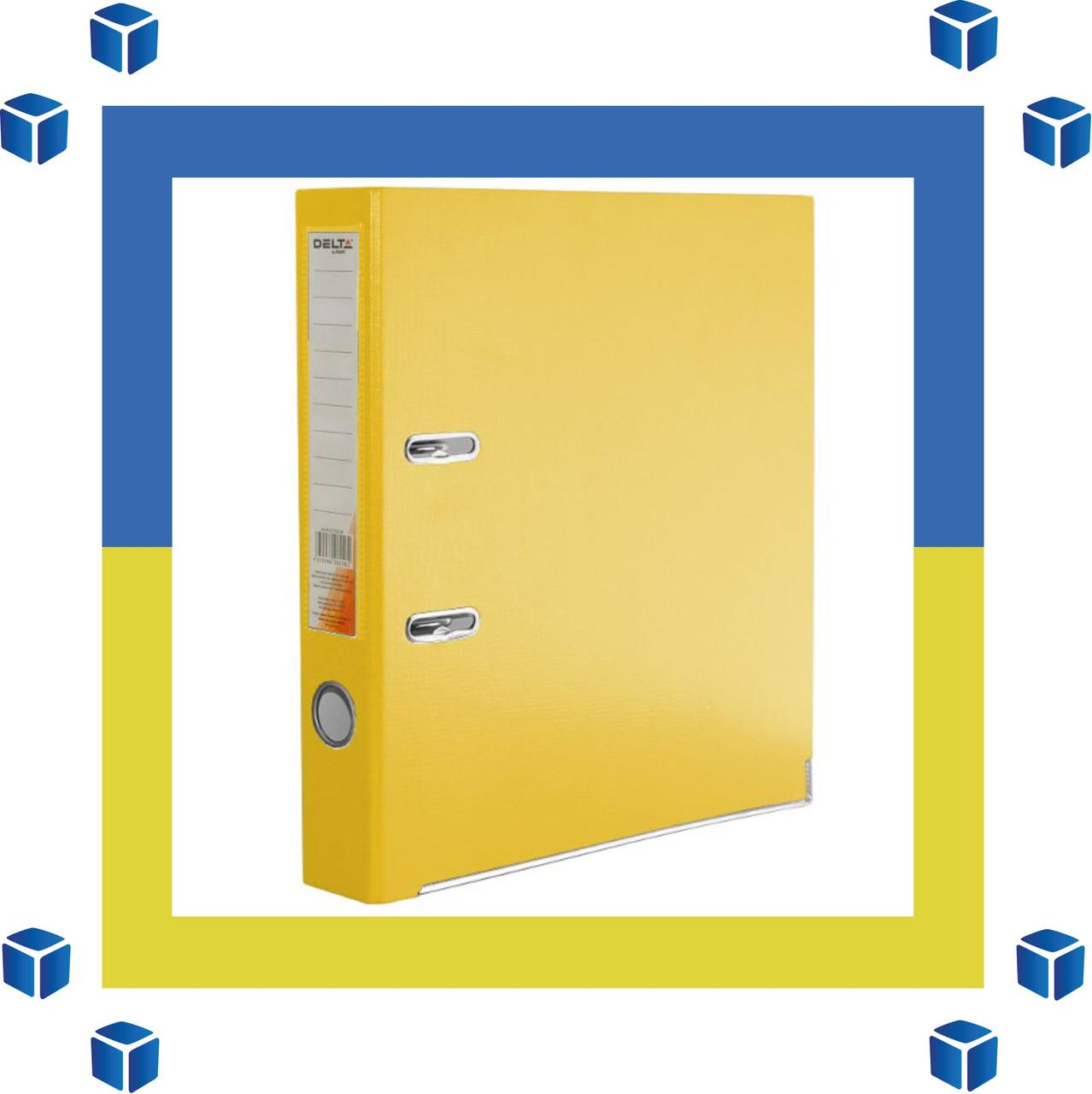 Папка - регистратор (сегрегатор) А4/50 Delta (желтая-односторонняя)
