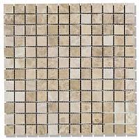 Мраморная мозаика МКР2-П (полированная) 23*23*6  Emperador Light