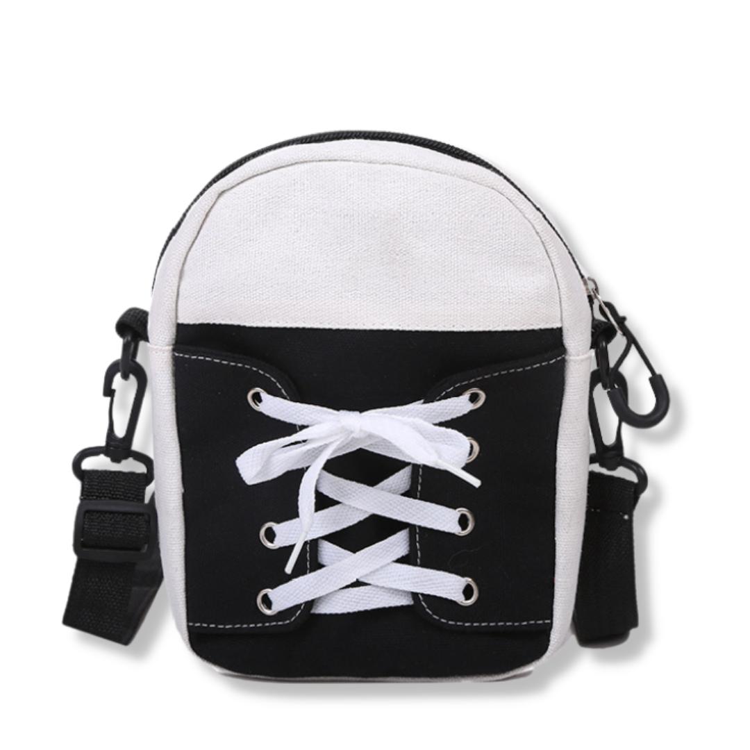 Жіноча маленька сумочка на довгому ремінці, Чорний клатч із шкірозамінника на защіпку, Міні сумочка,