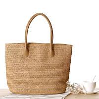 Женская соломенная сумка, бежевая сумка женская, летняя сумка тренд 2021 CC-3729-16
