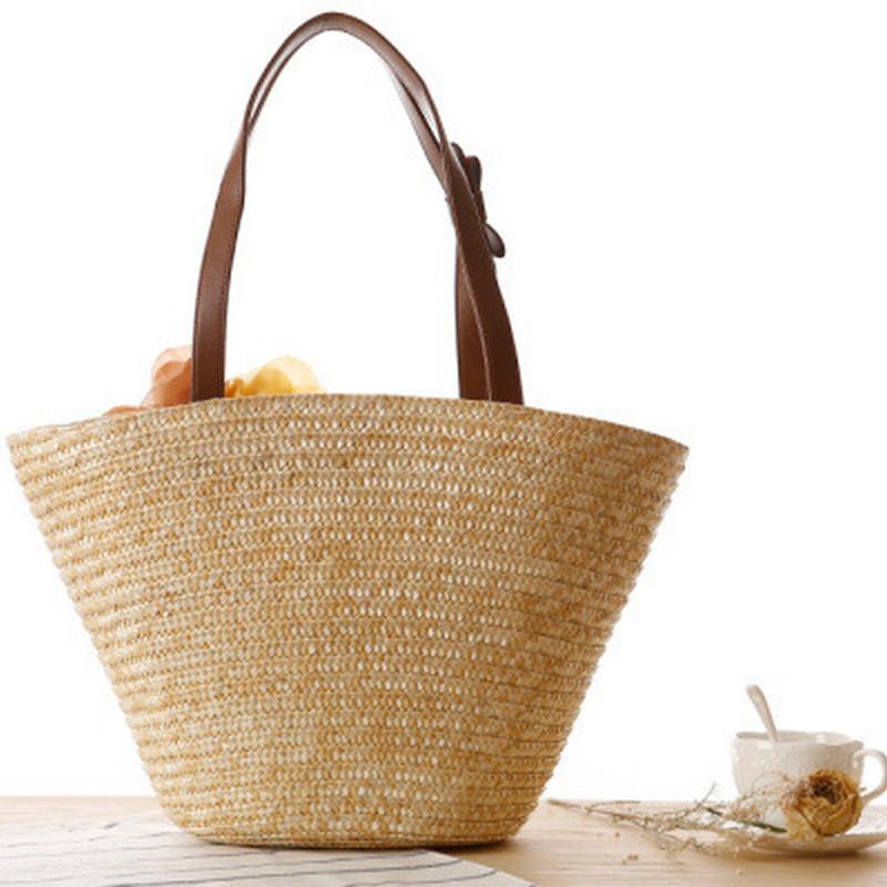 Женская соломенная сумка, бежевая сумка для девушки, летняя сумка 2021  CC-3730-16