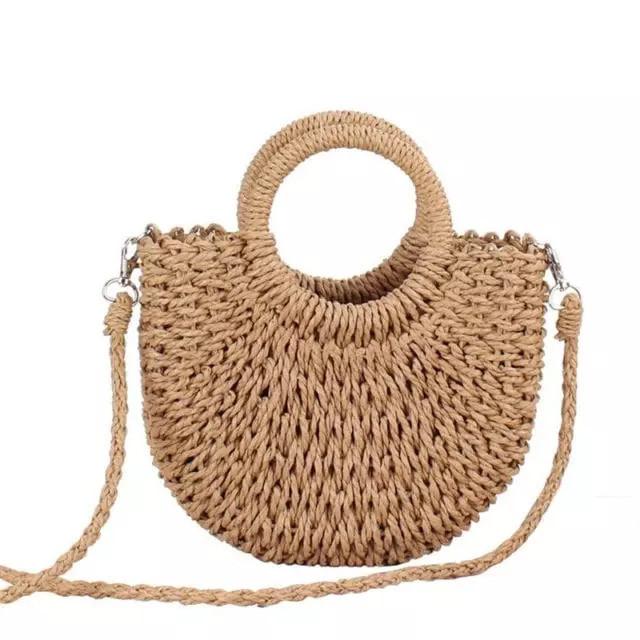 Женская соломенная сумка, бежевая плетеная сумка, летняя сумка 2021  CC-3731-16