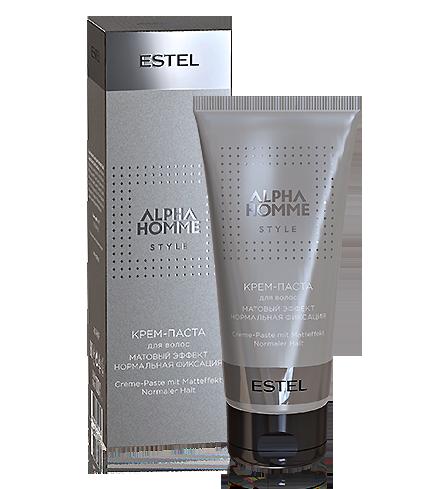 Крем-паста для укладання волосся матовий ефект нормальна фіксація ALPHA HOMME