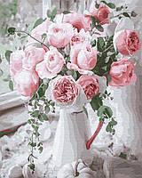 Картина по номерам 40х50 - Букет нежных роз