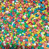Посипка цукрова кольорова кружечки - конфетті ТМ Украса, Україна, 100г