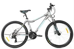 """Гірський велосипед 26 дюймів Crosser Trinity рама 17"""" сіро-синій"""