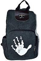 Жіночий рюкзак. Жіноча сумка. Модний рюкзак з полотна. Крутий портфель. СР11-1