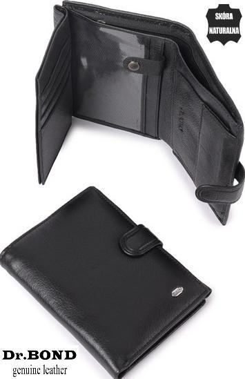 Чоловічий гаманець, портмоне з натуральної шкіри Dr.Bond ЕК26