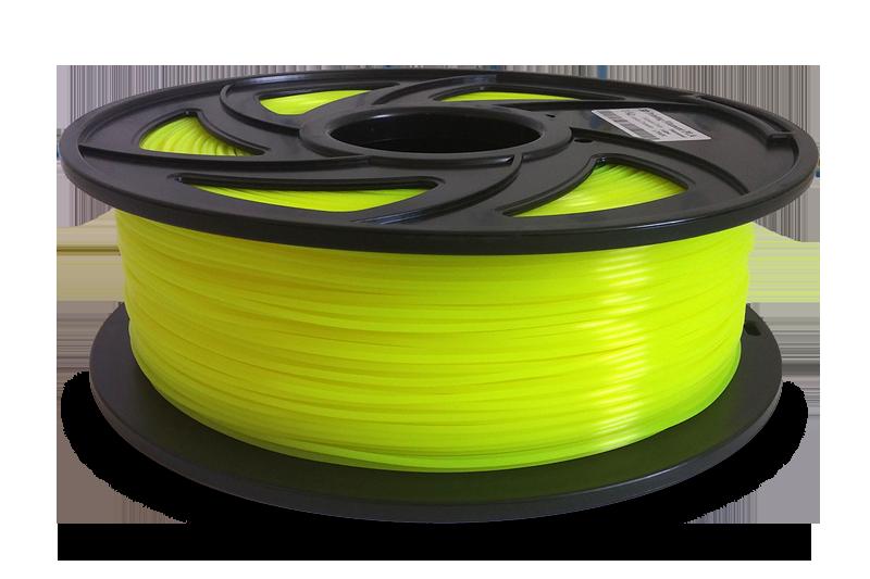 Пластик для 3D-принтера 1кг PLA (3d-ручки) 1.75 мм/1кг (330м) HQ (Жовтий) HQ205