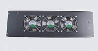 3-х вентиляторный блок реверсивный в пол для шкаф MGSE 610 шир., черный