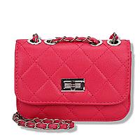 Женский малиновый клатч, Мини сумка через плечо на кнопке, клатч тренд 2021  AL-6730-25