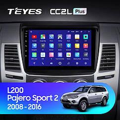 Штатная магнитола Teyes Mitsubishi Pajero Sport/L200 (2008-2016) Android