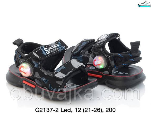 Дитяче літнє взуття 2021 оптом. Дитячі босоніжки бренду MLV для хлопчиків (рр. з 21 по 26), фото 2