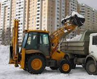 Уборка,чистка снега экскаватором