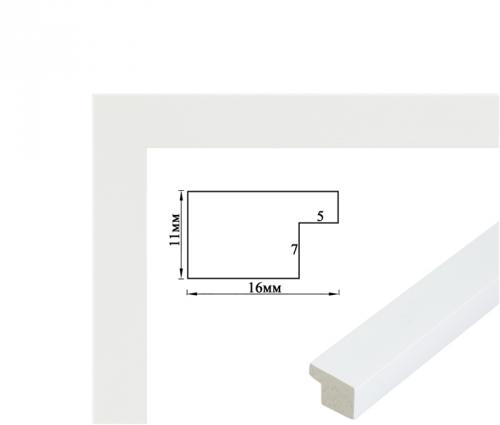 Рамка багетная (белая 2 см) 40х50