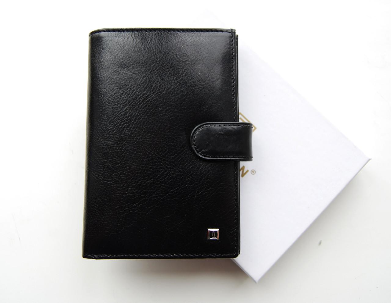 Великий чоловічий шкіряний гаманець. Портмоне чоловіче. Натуральна шкіра ЕК55