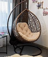 Кресло кокон, качеля из ротанга, подвесное кресло, подвесная качеля. АртВуд.